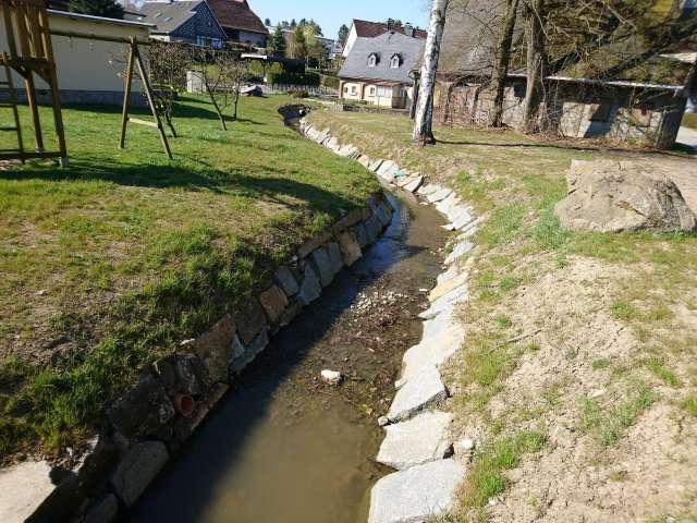 Schadenbeseitigung des Hochwassers von 2013 in Ebersbach- Neugersdorf - Grundstücksböschung nach Sanierung
