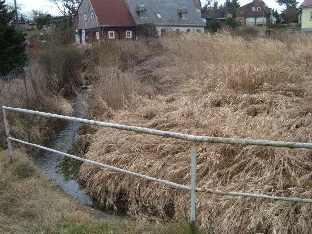 Schadenbeseitigung des Hochwassers von 2013 in Ebersbach- Neugersdorf - Bachlauf vor Sanierung