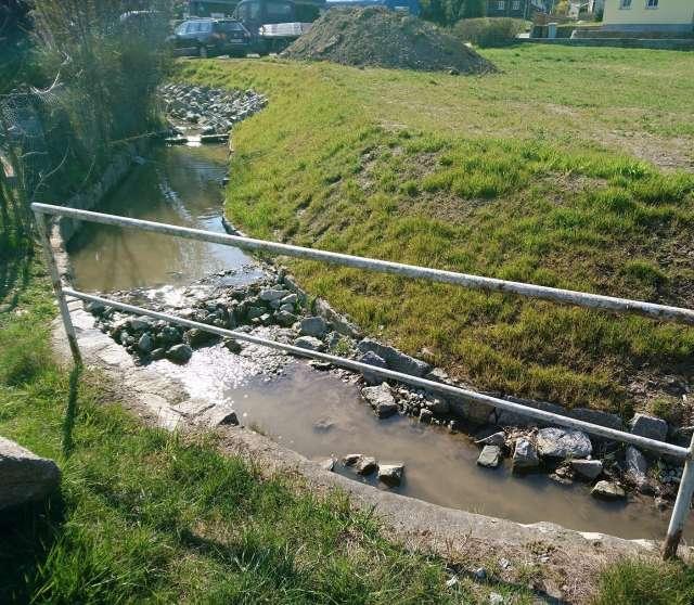 Schadenbeseitigung des Hochwassers von 2013 in Ebersbach- Neugersdorf - Bachlauf nach Sanierung