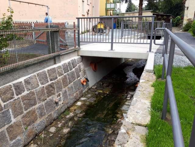 Schadenbeseitigung des Hochwassers von 2013 in Ebersbach- Neugersdorf - Brückensanierung