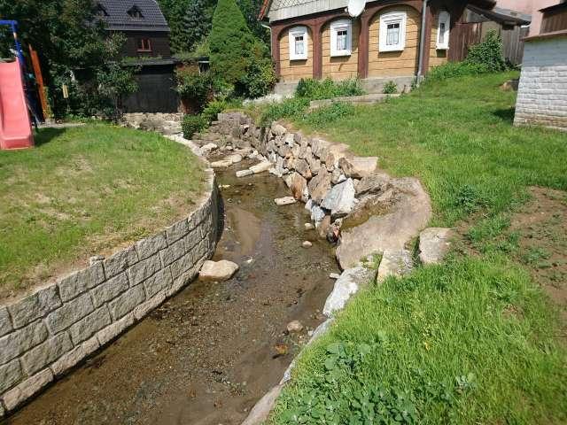 Schadenbeseitigung des Hochwassers von 2013 in Ebersbach- Neugersdorf - Sanierte Grundstücksbefestigung
