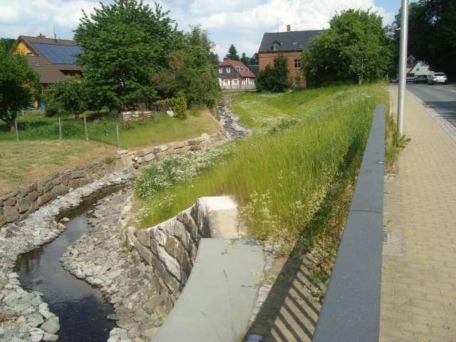 Schadenbeseitigung des Hochwassers von 2013 in Ebersbach- Neugersdorf - Sanierung Bachlauf