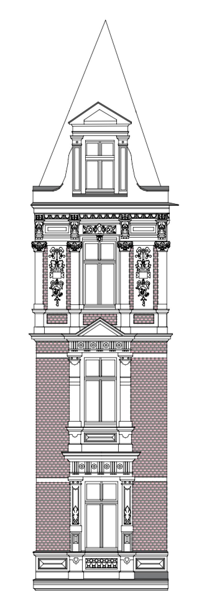 Landratsamt Görlitz - Fassadenausschnitt Gebäude G1