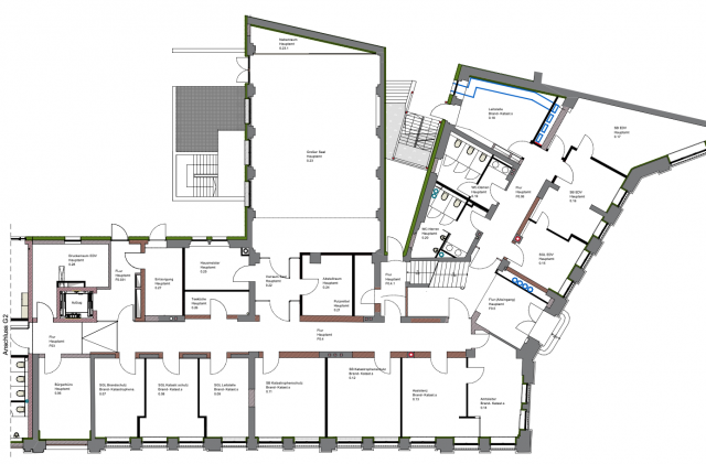 Landratsamt Görlitz - Grundrissausschnitt Gebäude G1