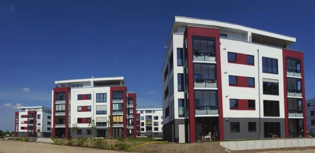 Wohnquartier Adlershof - Perspektivansicht West