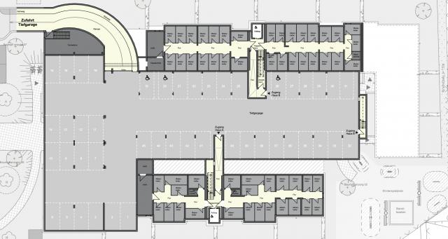 Gewohnt gut, Teltow - Grundriss Untergeschoss mit Tiefgarage