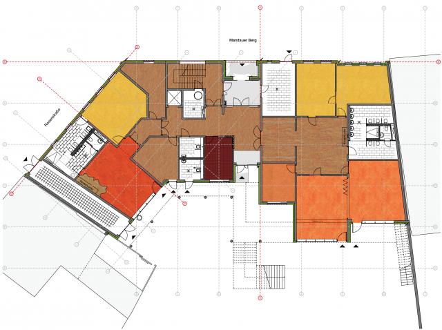 Innerstädtische Kita Zittau - Grundrissebene Erdgeschoss