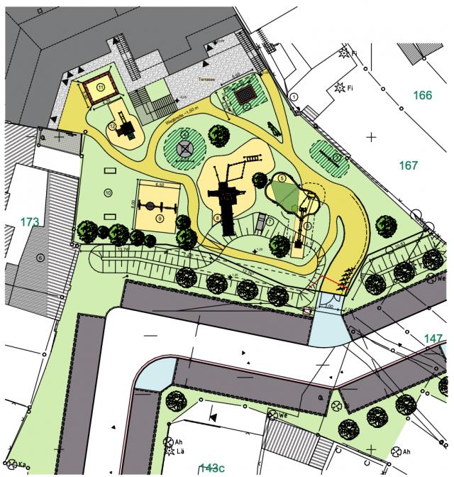 Innerstädtische Kita Zittau - Freiflächenplan