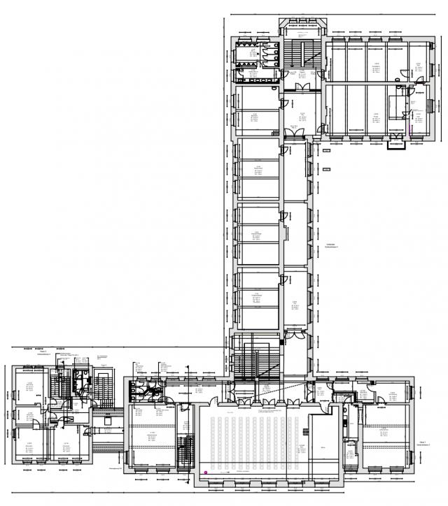Weinauschule Zittau - Grundriss 1. Obergeschoss