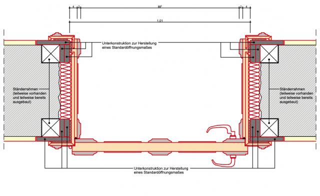 Schliebenschule Zittau - Detailplanung historische Klassenzimmertür