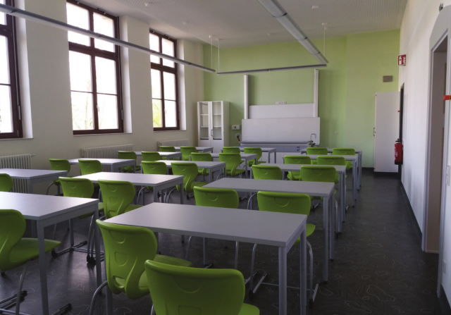 Schliebenschule Zittau - sanierter Klassenraum im Altbau