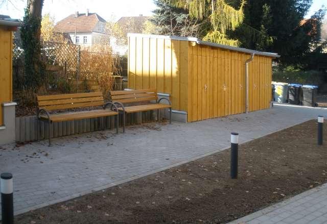 Gemeinschaftliches Wohnen, Ostritz - gestalteter Freiraum