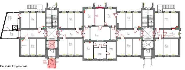 Parkschule Zittau - Grundriss Erdgeschoss