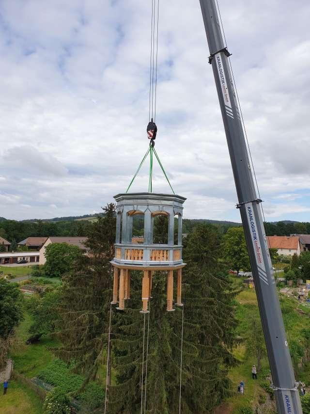 Kyaw`sches Schloss Hainewalde - Basis des neuen Turms