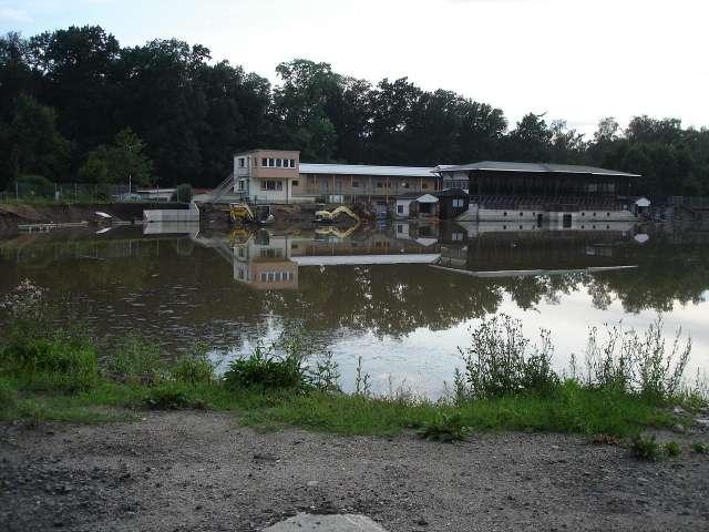 Weinaustadion, Zittau - Augusthochwasser 2010