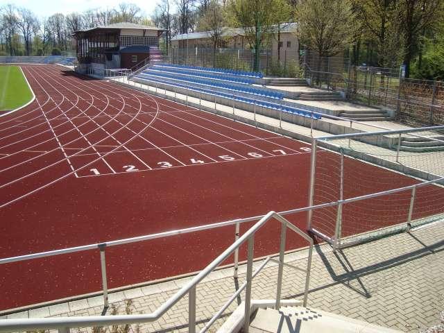 Weinaustadion, Zittau - Start für Sprintstrecken